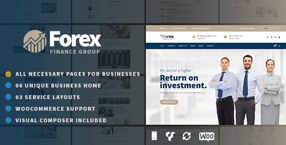 Forex - Business & Financial WordPress Theme - Business Corporate