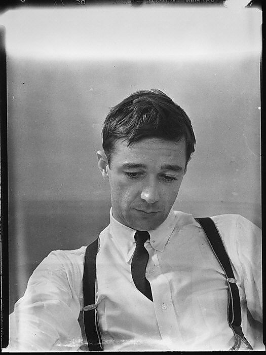 Walker Evans (1903-1975) - American photographer best known for his work for the Farm Security Administration (FSA) documenting the effects of the Great Depression. self portrait 1930s
