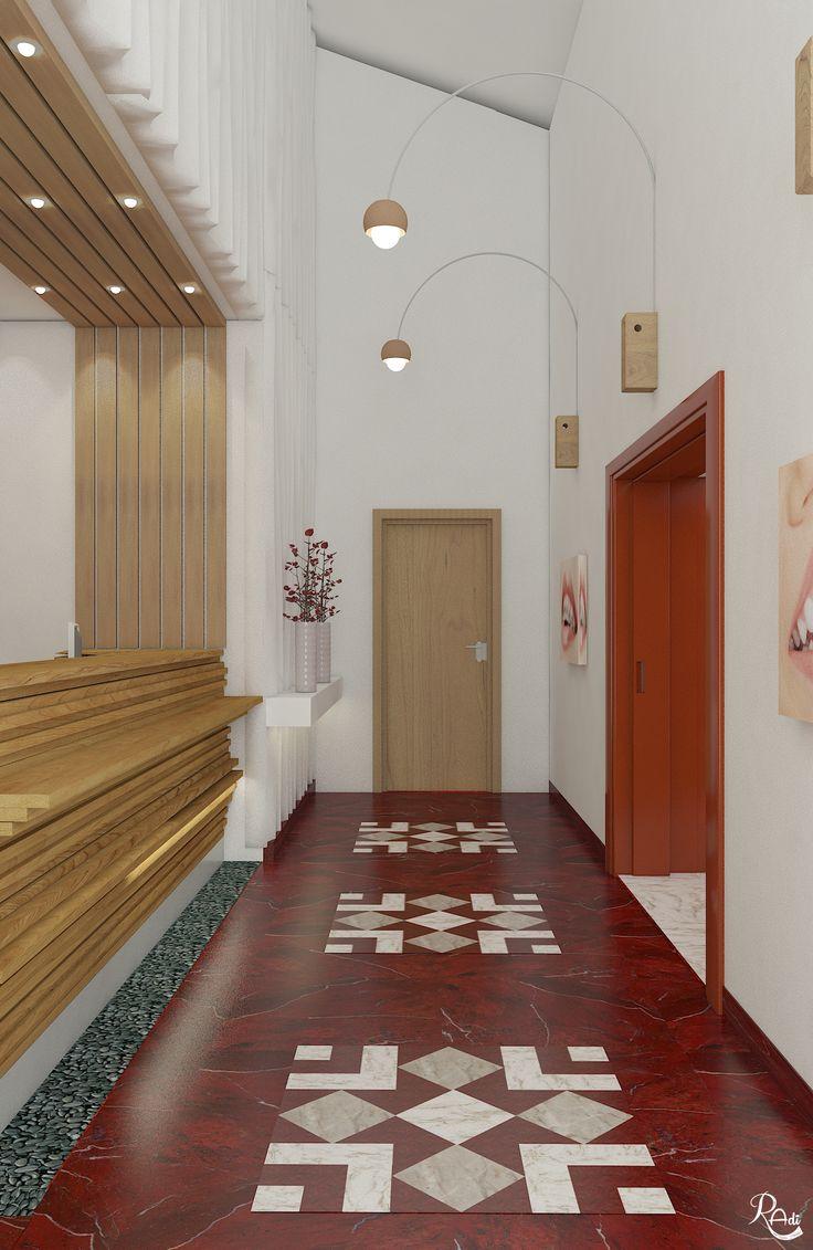 Dental Clinic Reception Design V-Ray Render