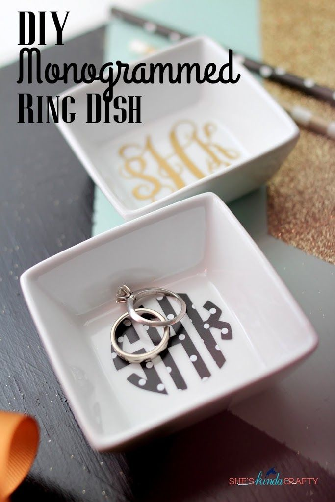 shop clothing Making this monogrammed ring dish is easy with this step by step tutorial  Makes the perfect gift