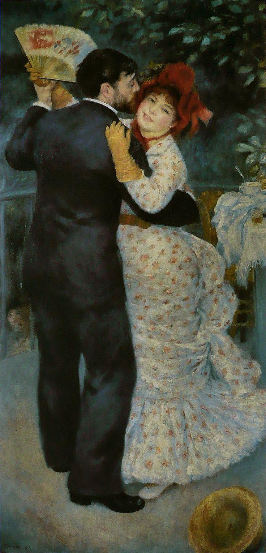 Pierre-Auguste Renoir, Ballo in campagna, 1883, olio su tela, Musèe d'Orsay