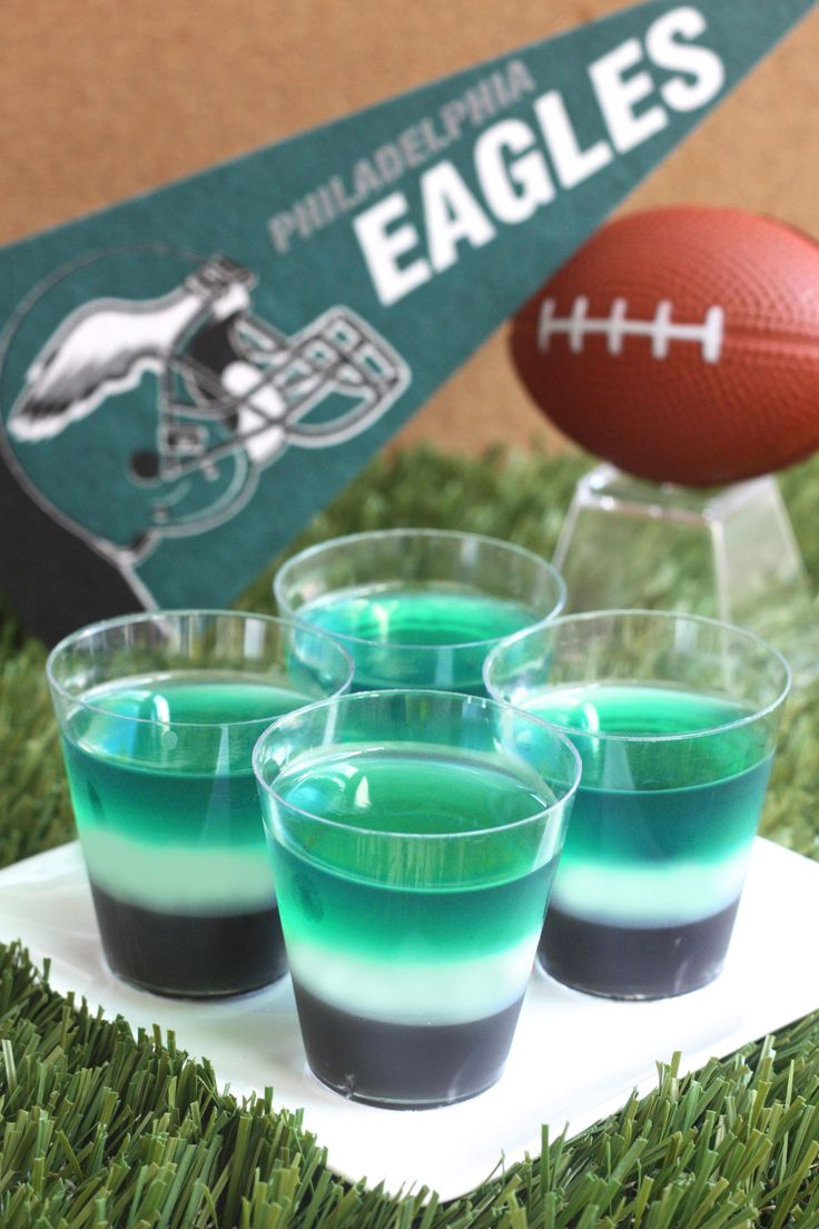 Philadelphia Eagles JellO Shots  Recipe  Awesomeness