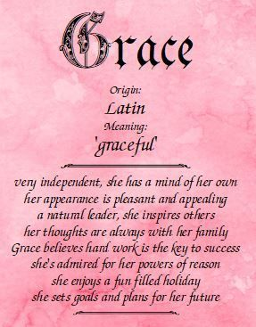 Meaning Of The Name Grace Names With Meaning Grace Name