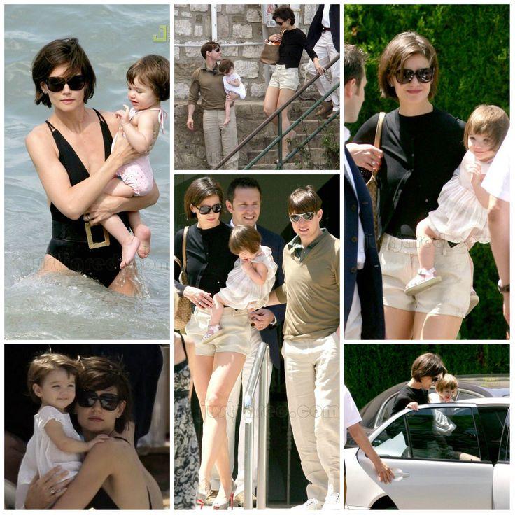 Actress - atriz - actriz - actor - ator - hair - cabelo - pelo - dark - escuro - oscuro - black - preto - negro - eye - olho - ojo - blue - azul - beautiful - bonita - hermoso - moda - look - style - estilo - inspiration - inspiração - inspiración - fashion - elegante - elegant - chic - baby - bebê - daughter - filha - hija - father - pai - padre - dad - papai - papá - mother - mãe - madre - mom - mamãe - mamá - happy family - família feliz - june - 2007 - Katie Holmes - Suri Cruise - Tom…