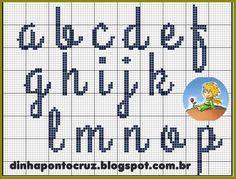 Dinha Ponto Cruz: O Pequeno Principe + monograma ponto cruz