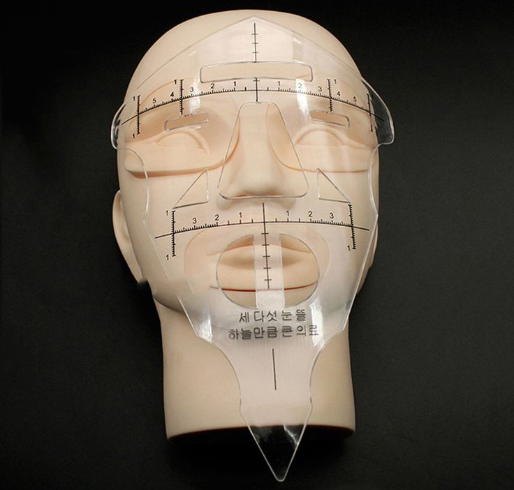 Riutilizzabile Sopracciglio Stencil Trucco Micro-blading Shaper Del Tatuaggio Righello Strumento di Misura