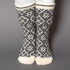 socks women wool white black pattern star folklore eco friendly sock foot scandinavian nordic