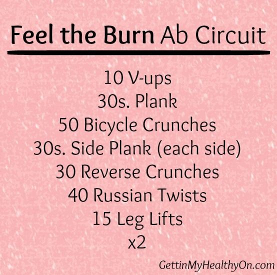 Feel the Burn Ab Circuit