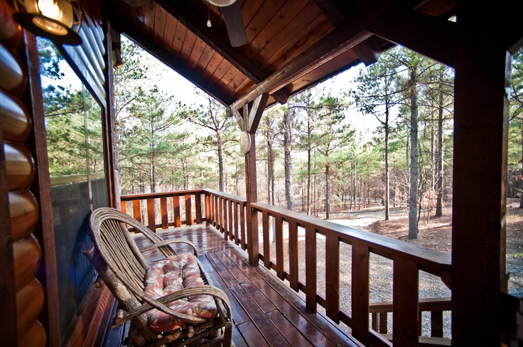 Looking Off The Deck At The Wildwood Cabin In Broken Bow