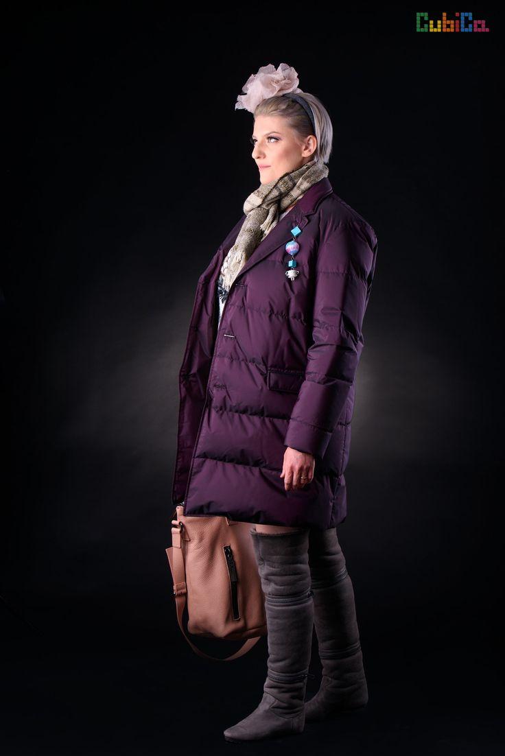 Duvet unisex down lightweight long coat CubiCa WOMAN CubiCity collection
