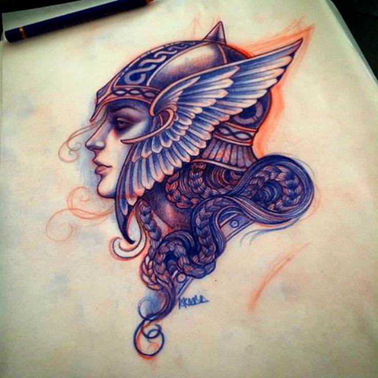 Done by Lynn Akura.https://instagram.com/lynnakura/?hl=en     I feel like a good tattoo would be thor or odin drawn in this style and this angle
