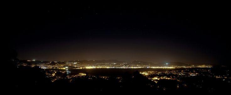 Ría de Vigo,  panorámica nocturna