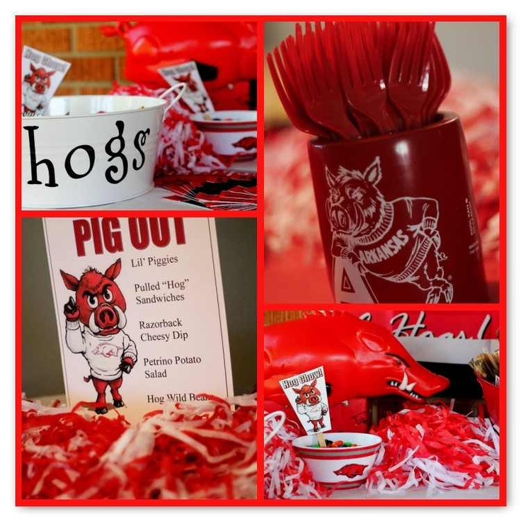 Amy's Party Ideas: {Real Party} Arkansas Razorbacks Tailgate Birthday Party!