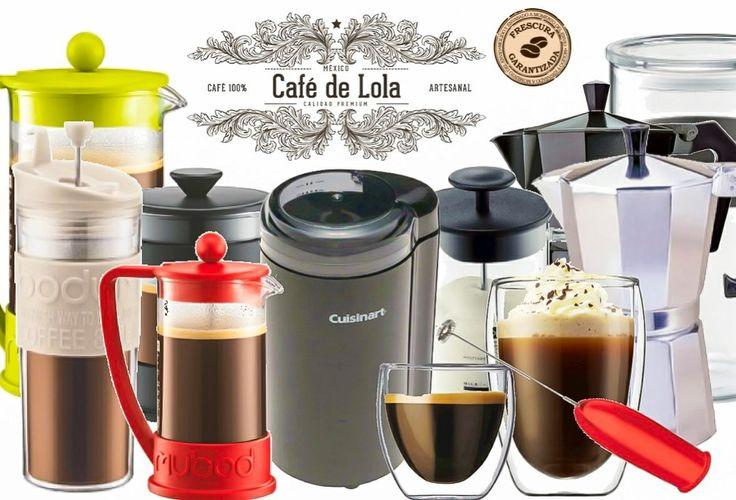 Tenemos muchos productos disponibles, todo para hacer tu café mejor:  Prensas francesas (diversos tamaños y colores) Termo con prensa francesa  Cafetera Moka o Italiana tradicional Molinos Espumadores para capuchino o latte  Y muchos más  www.cafedelola.com