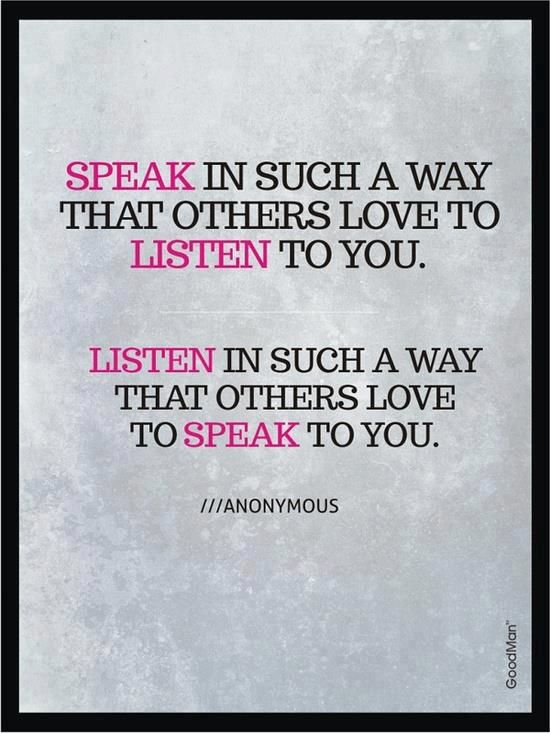 Too often we underestimate the power of a thoughtful question and a listening ear that's fully present and focused. Although it's a simple act, it may very well be the most powerful act of caring – one which has the potential to turn a life around. - via: http://www.marcandangel.com/2013/04/23/6-ways-to-speak-well-to-your-loved-ones/