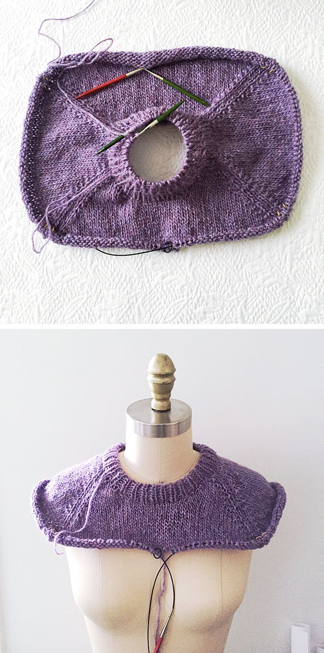 Time to talk about yoke sizing, but first: You can see my sweater now has its neck ribbing. You can do this anytime, and most patterns tell you to do it at the end, but I like now. Now is good. As …