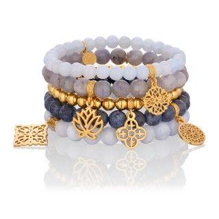 KLEJNOT NILU. #mokobellejewellery #mokobelle #jewellery #jewelry #bracelet #gold #set #bransoletka