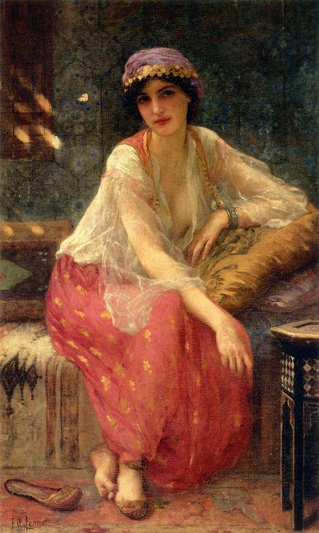 Odalisque, Charles Amable Lenoir