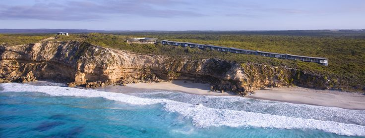 Southern Ocean Lodge is Australia's first true luxury lodge, offering a unique and exclusive travel experience on Kangaroo Island in South Australia. Floating atop a secluded cliff on a rugged stretch of coast, the lodge commands peerless views of the wild Southern Ocean and pristine Kangaroo Island wilderness/ Why hot arrive in style with Helivista Helicopters.