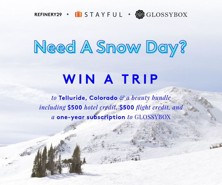 Win a trip to Telluride, Colorado! Enter now: http://r29.co/1Q17wXi