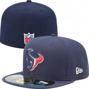 Houston Texans Official NFL On Field 59Fifty New Era Youth Hat (Navy)