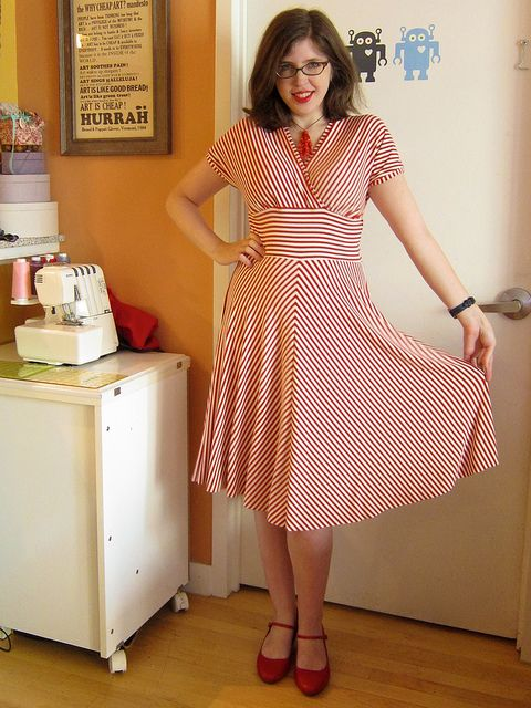 Finished*: Candy Striped Tiramisu! (And why I am knit dress obsessed!) by Polka Dot Overload