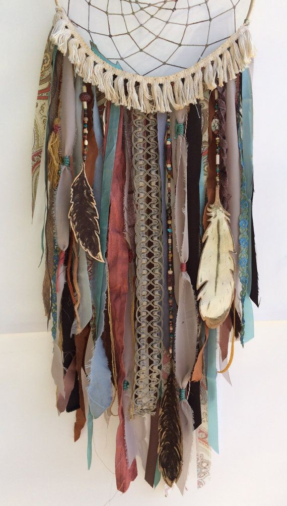 Dream Catcher - Bohemian Gypsy Decor - Large Southwestern Inspired Wall Hanging…