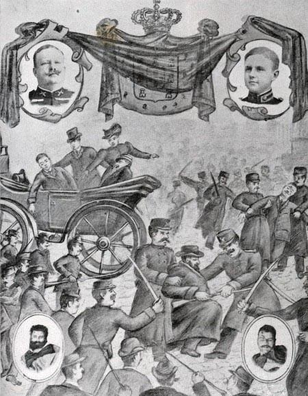 Thumbnail for version as of 17:00, 27 August 2010. 1908 Assassination of Portugal's King Carlos I & his son & heir