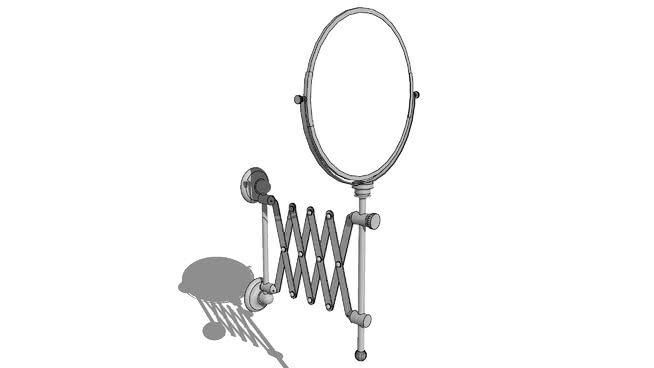 Scissor type bathroom extendable mirror. #Bathroom #Mirror