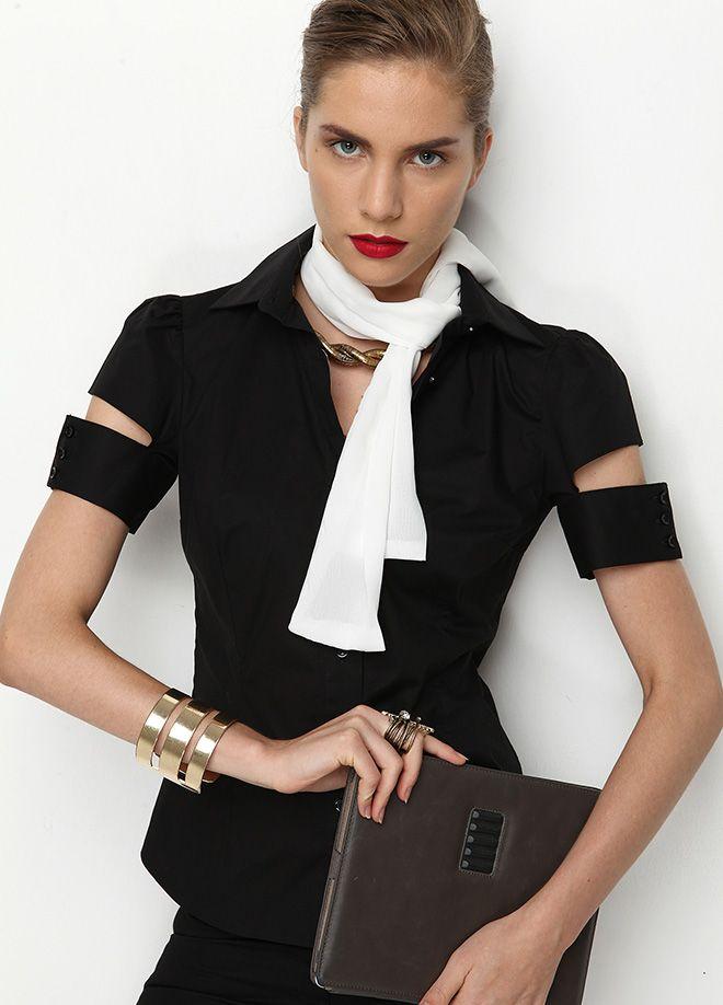 Stil Aşkı: Ofiste Neler Moda Kolları yırtmaçlı pamuk gömlek Markafoni'de 59,99 TL yerine 24,99 TL! Satın almak için: http://www.markafoni.com/product/4764332/ #fashion #shopping #fun #alisveris #bestoftheday #model #girl #dress #style #stylish #instafashion #officestyle #office #ofismodasi #markafoni