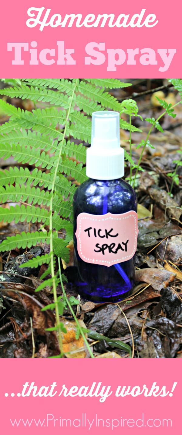 Homemade Tick Spray (with video!) This natural tick repellent has kept my family & my dog tick free for the past 3 years!