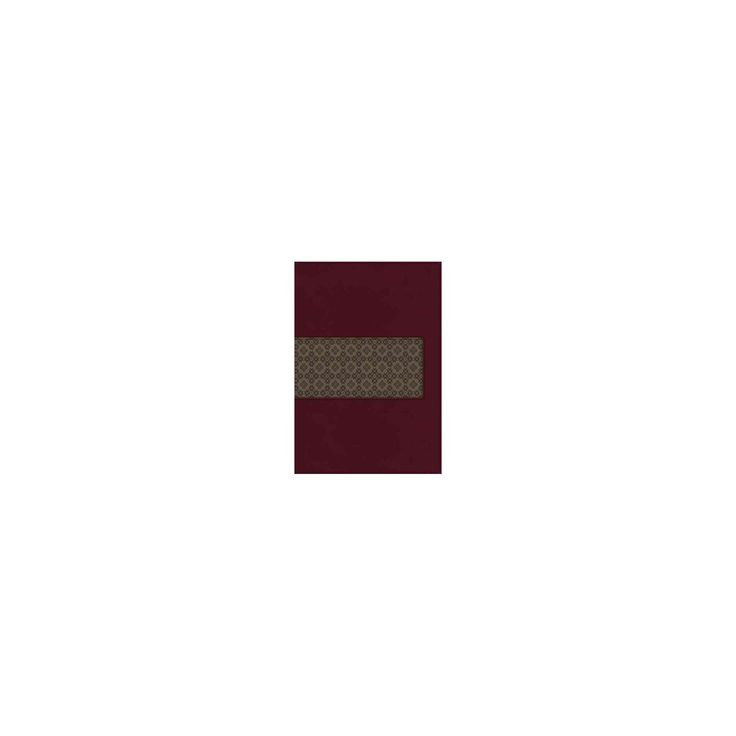 King James Study Bible : King James Version, Rich Ruby/Warm Taupe, Leathersoft (Indexed, Thumbed)