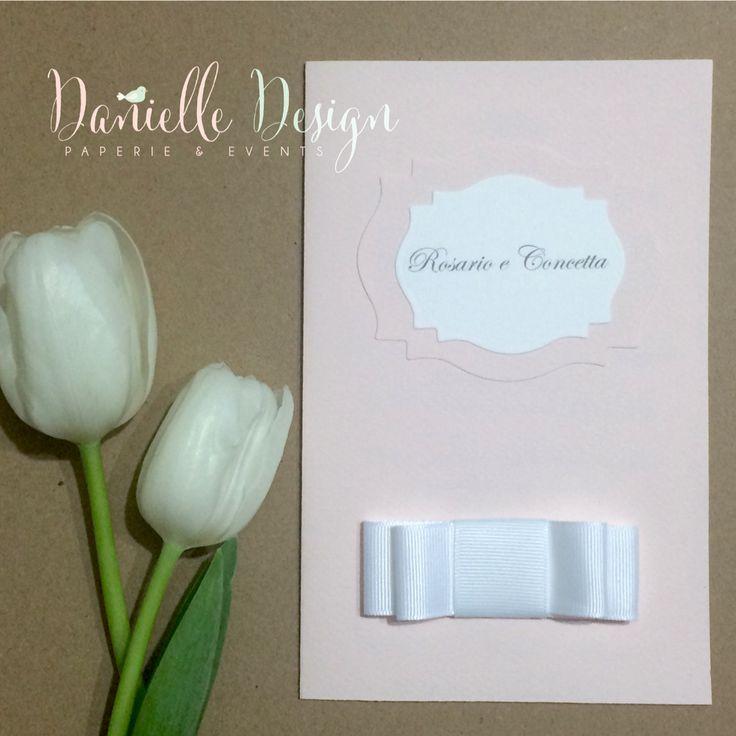 Wedding menu .. Soft pink Italian wedding