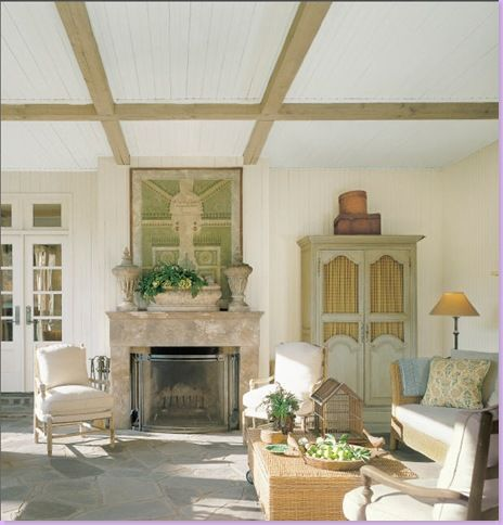 Vintage Garden Plan Over Fireplace Porch Designer Home Owner Charles