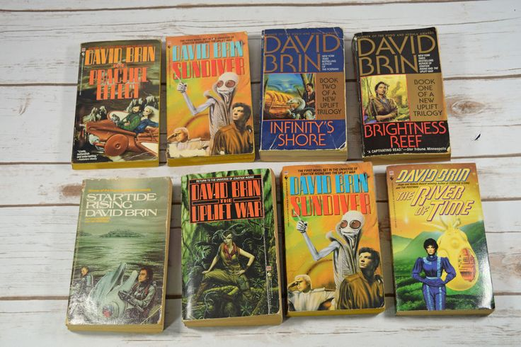 8 #DavidBrin Sundiver #UpliftTrilogy River of Time + More Paperback #Books