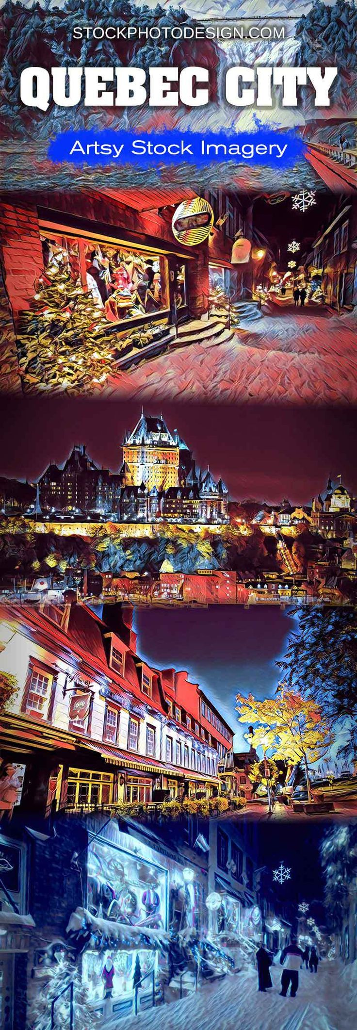 Quebec City - Artsy RF Stock Images at Great Prices - Stockphotodesign.com