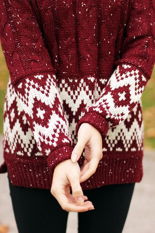 I love the details on this sweater!