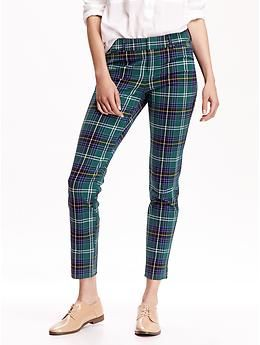 Plaid Ankle Pants