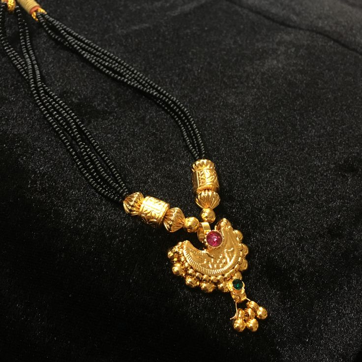 KOPM - Small Chandrakor with green and Pink Stone
