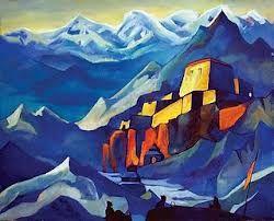 """""""…estrambóticas pinturas asiáticas de Nicholas Roerich"""". H.P. Lovecraft en """"En las montañas alucinantes"""""""