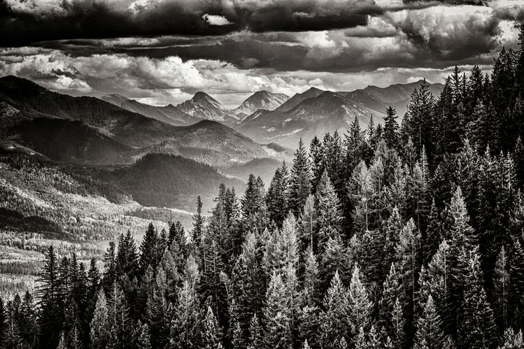Stormy clouds View from Fernie Mountain Resort in Canada  Dave Gaylord