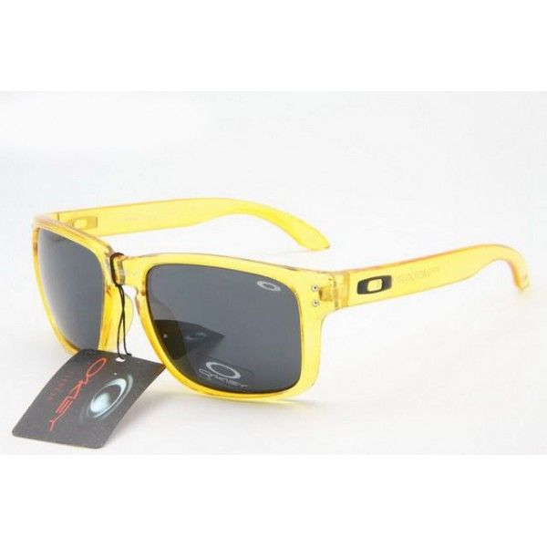 oakley outlet holbrook  $12.99 replica oakley holbrook sunglasses clear yellow frame black lens us outlet deals racal