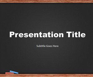 Plantilla PowerPoint de Pizarra es un diseño de PowerPoint ideal para ser utilizado en presentaciones educativas usando PowerPoint