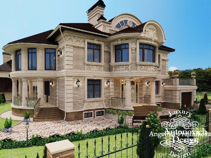 красивый фасад частного дома - фото реализованного проекта. Фото 2016 - Дизайн экстерьера