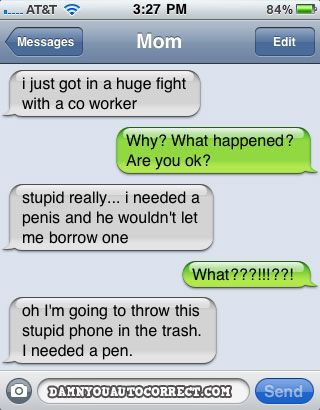 funny auto-correct texts - The 10 Most Popular DYAC's From November 2010