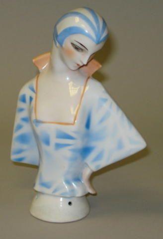 Large Art-Deco Lady half-doll