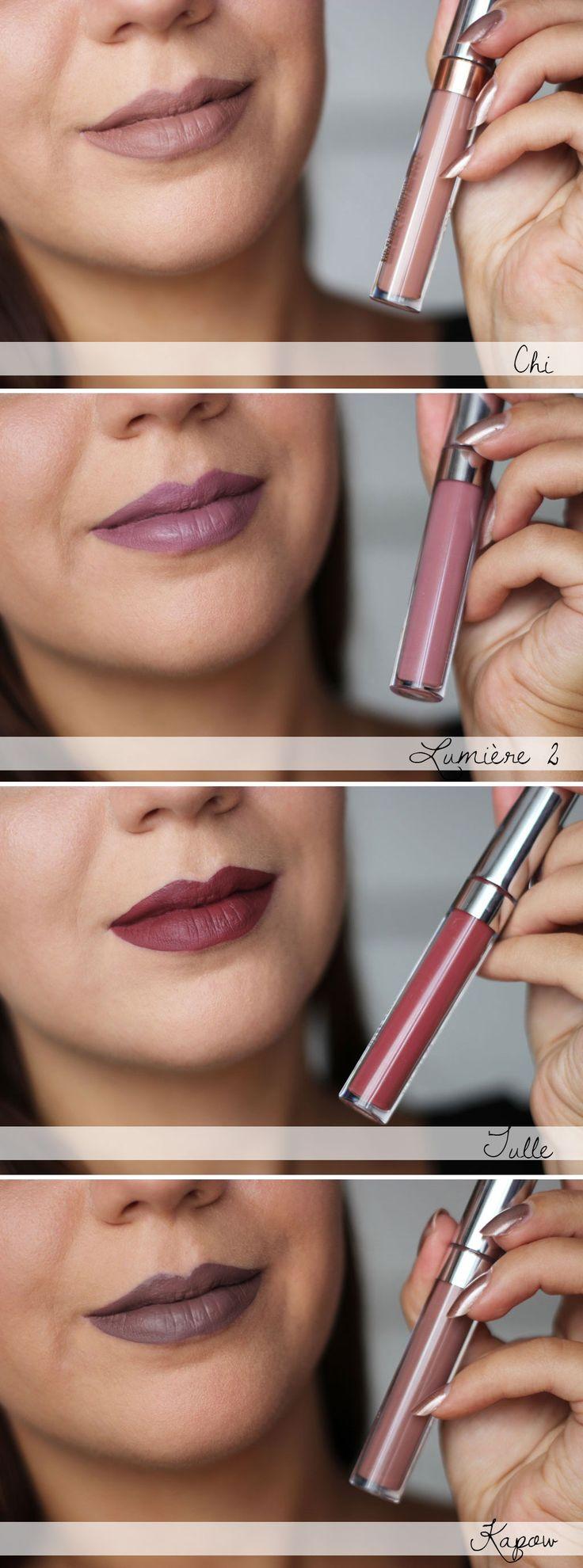 ColourPop Ultra Matte Lips Swatches - Kapow, Chi, Lumière 2, Tulle