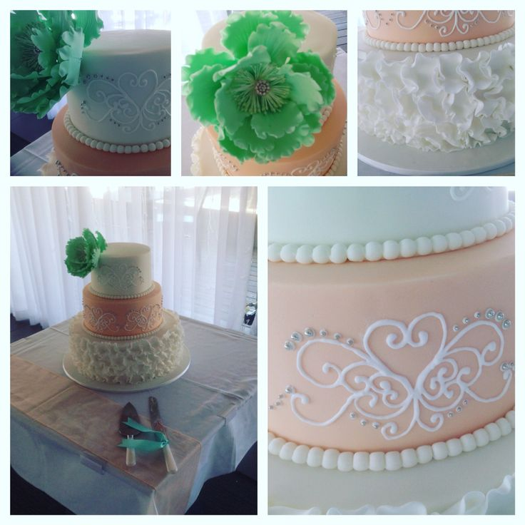 Mint Green And Peach Colours For The Wedding Theme