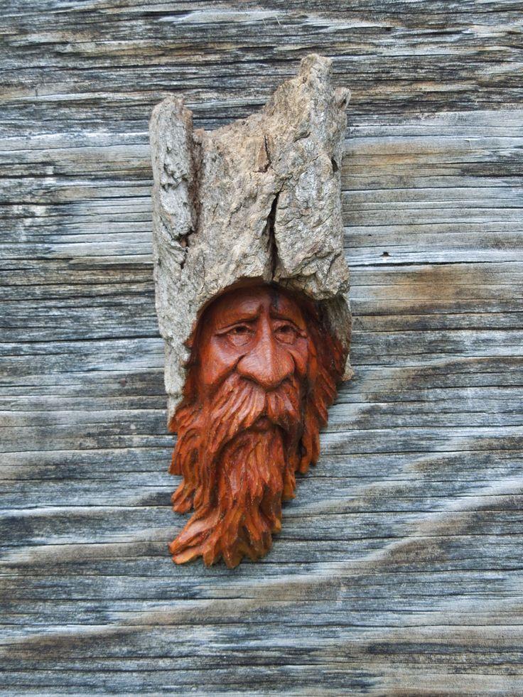 Scottlongpre woodspirit gnome wood carvings scott