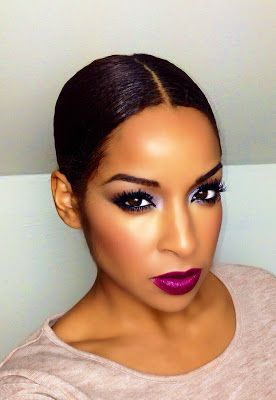 Beauty By Lee: Beauty Trend Dark Lip And Smokey Eye..Perfect For The Holidays Learn How!